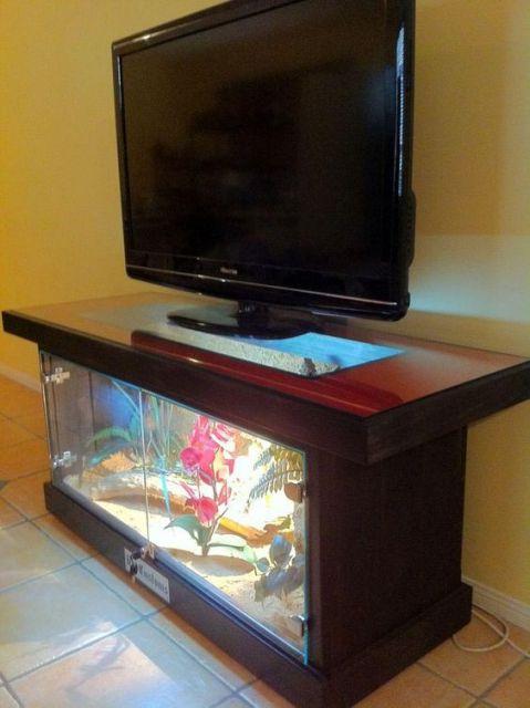 Aquário como armário de TV