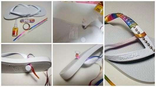 DIY chinelo customizado