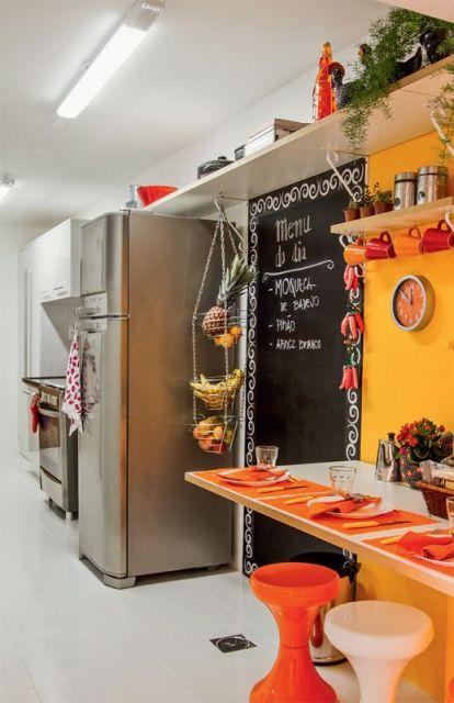 decoração colorida cozinha