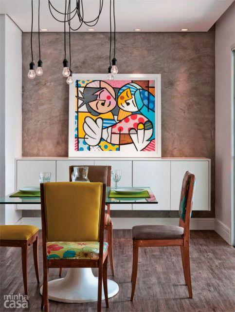 decoração sala de jantar moderna