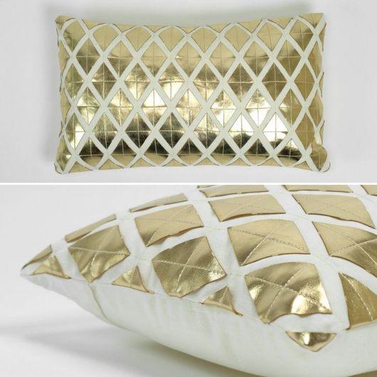 almofada metalizada