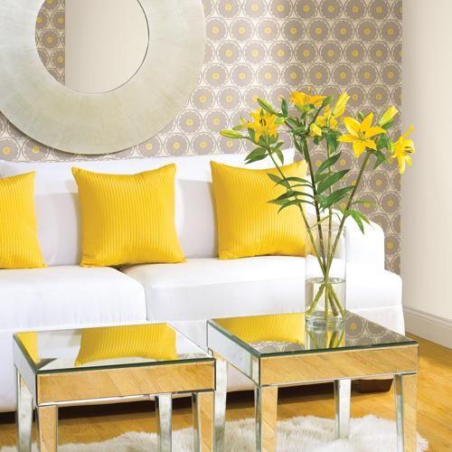 decoração sala com sofá branco