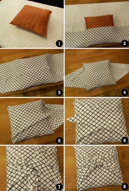 como fazer capa de almofada sem costura