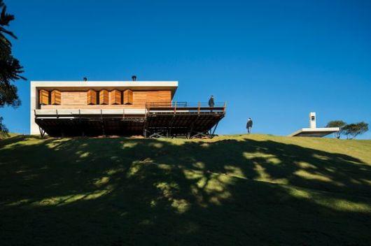 casa moderna de madeira