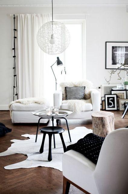 tapete de couro decoração