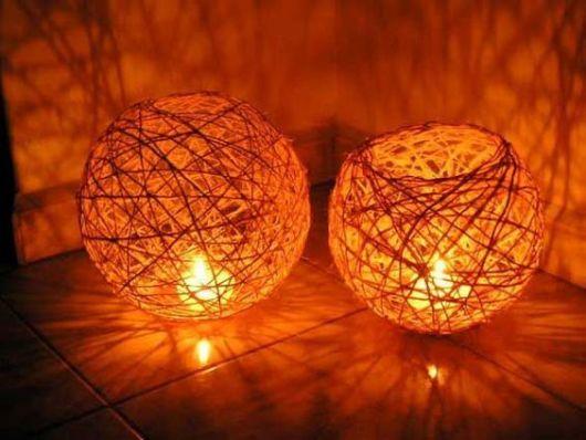 luminária com vela