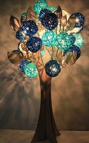luminária árvore