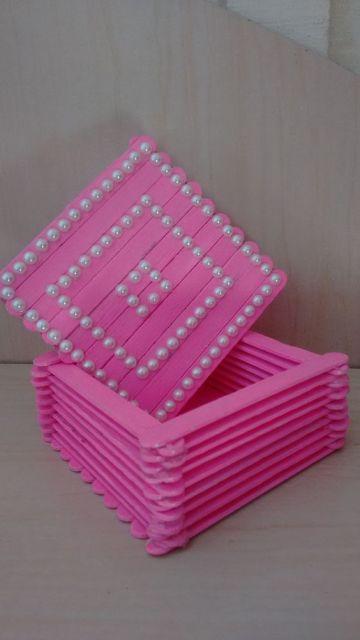 porta joias rosa