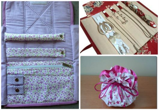 modelos de porta joias de tecido