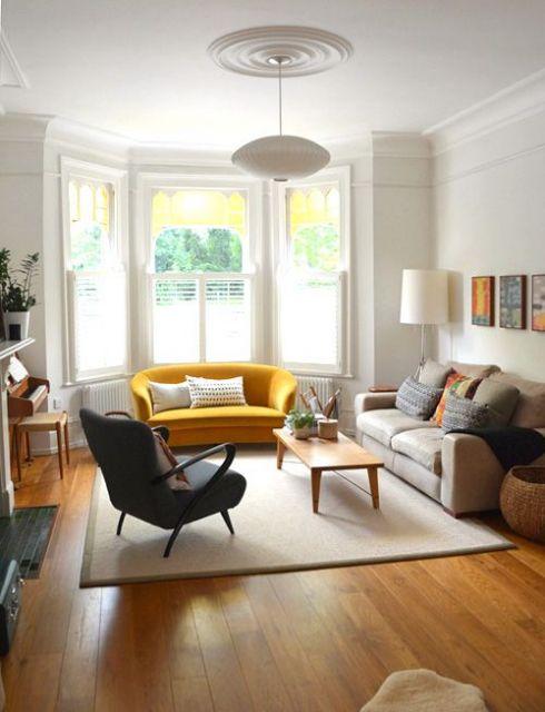 bay window em sala de estar