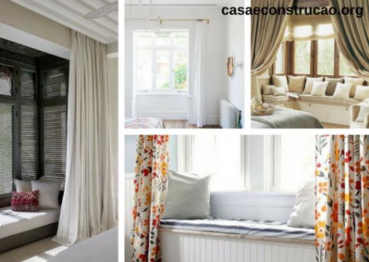 seleção de fotos de bay window com cortina