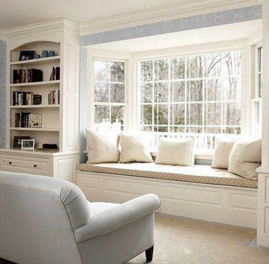 sofá instalado na bay window