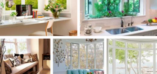 seleção de fotos de janela bay window