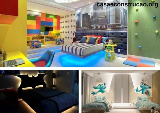 camas flutuantes em quartos infantis