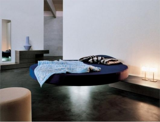 cama flutuante redonda