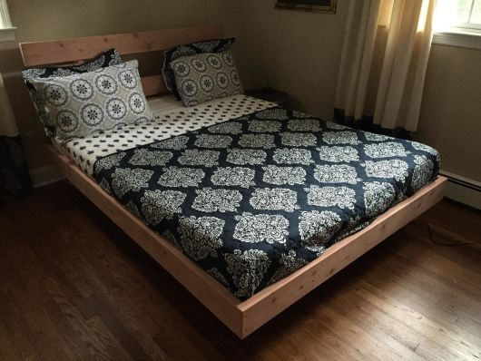 cama flutuante pronta depois de passo a passo