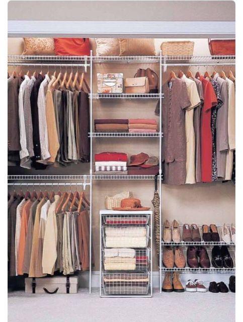 closet aramado em branco