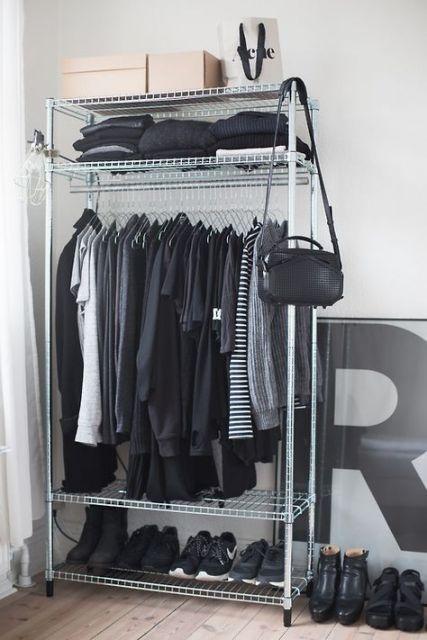 closet aramado já montado e móvel
