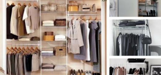 montagem de fotos de closet aramado