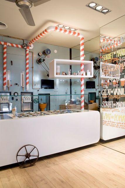 decoração de sorveteria colorida