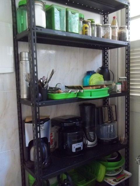 estante de aço preta