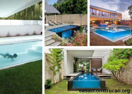 jardim com piscinas aquários