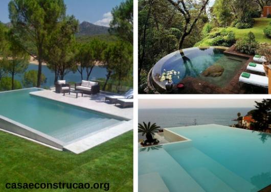 jardim com piscinas infinitas