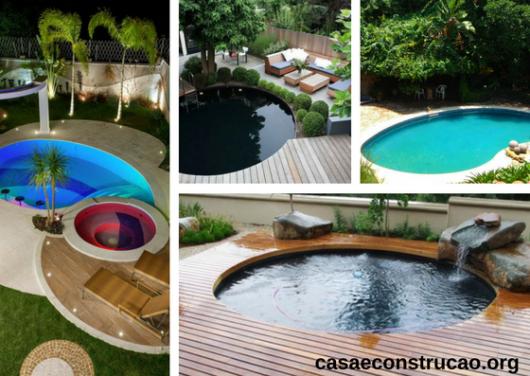 jardins com piscinas redondas