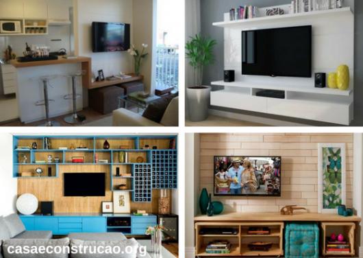 seleção de fotos de móveis planejados para sala