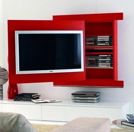 painel para TV com armário atrás