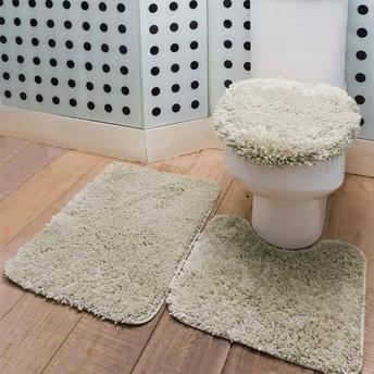 tapete emborrachado felpudo no banheiro
