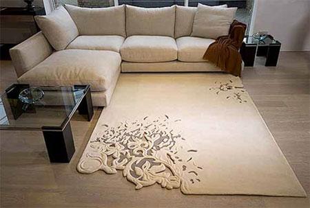 tapete emborrachado neutro com textura diferente
