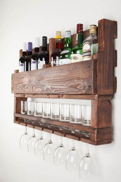 Como fazer um bar adega de pallet em casa passo a passo for Modelos de bar en madera rustica