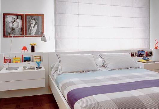 móvel branco quarto
