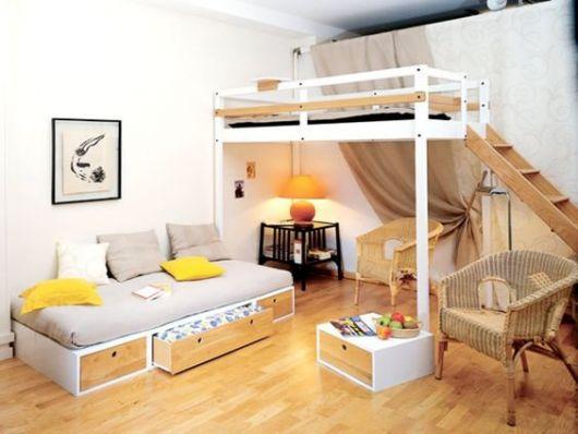 espaço decorado sala