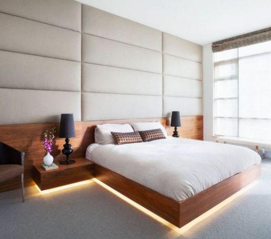 cama com luz embutida
