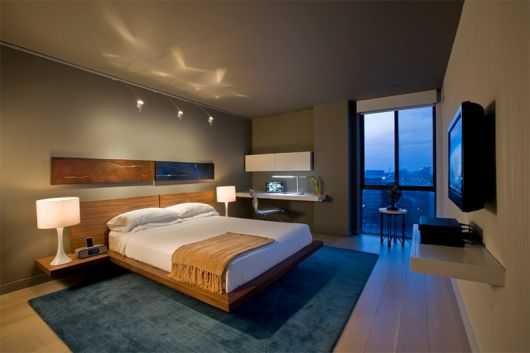 quarto com tapete