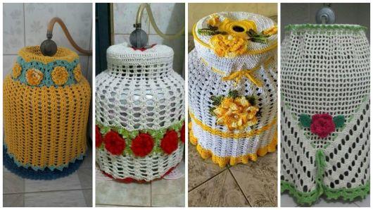 decoração com flores de crochê