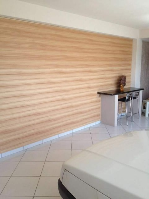 parede decorada com forro PVC