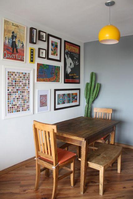 parede cinza decoração