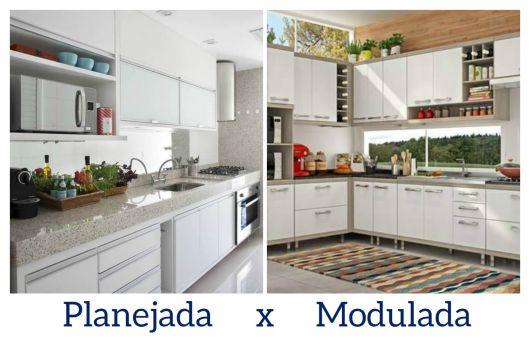 diferença cozinha planejada e modulada