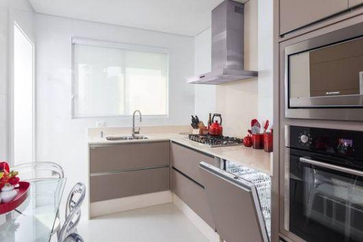 cozinha planejada com lava louças