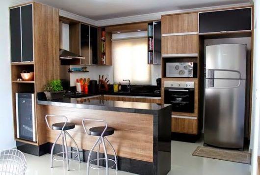 cozinha planejada madeira