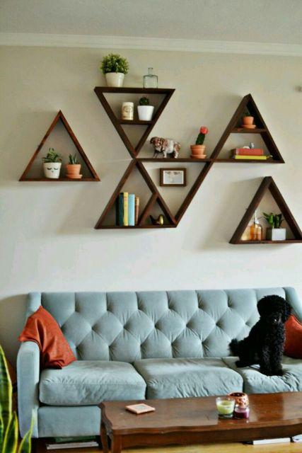 nicho triângulo decoração