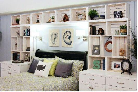 quarto decorado com caixotes de feira