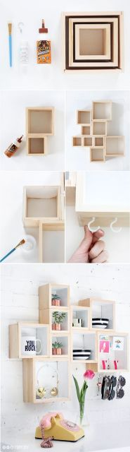 como montar parede de nichos