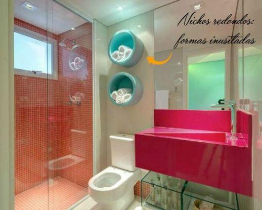 Nicho redondo Diversos Modelos e Passo a Passo Completo! -> Nicho Redondo Banheiro