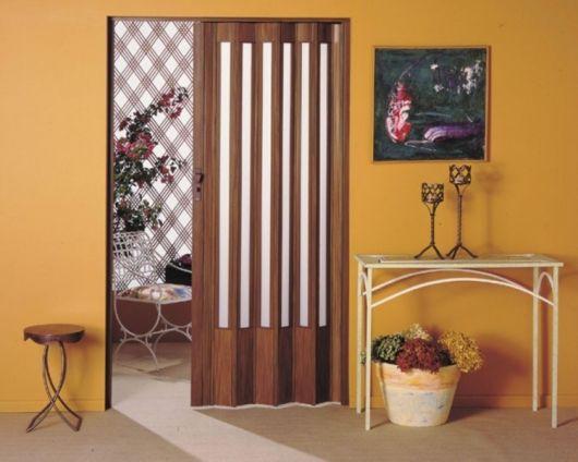porta de PVC decoração