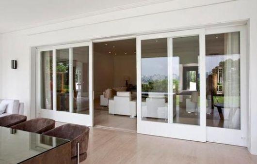 porta de vidro grande