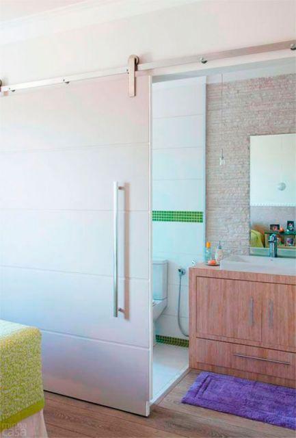 porta suspensa banheiro